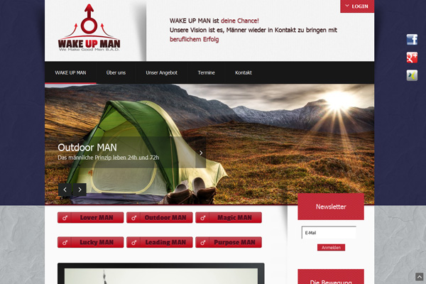 WAKE UP MAN Homepage