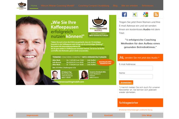 Wiener Coaching Modell Homepage