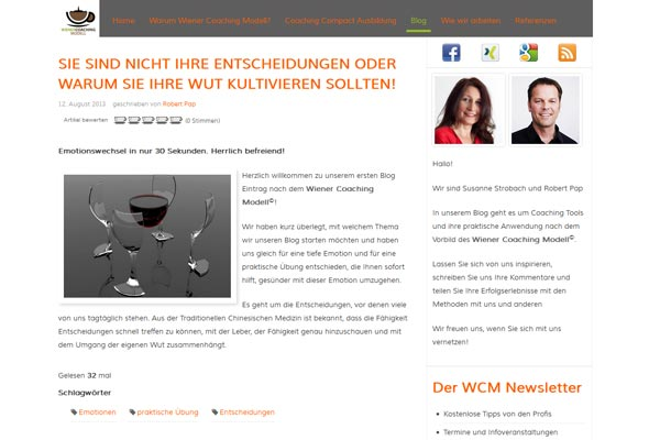 Wiener Coaching Modell Blog